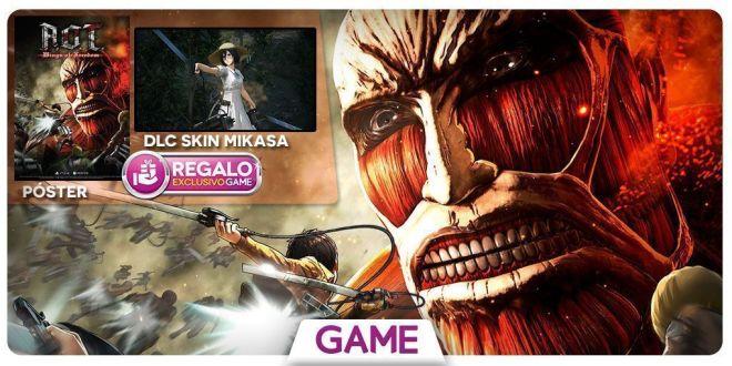 'Ataque a los titanes Wings of Freedom' llega a PS4 y XBOX