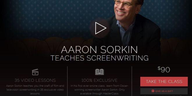Curso de escritura de guiones de Aaron Sorkin