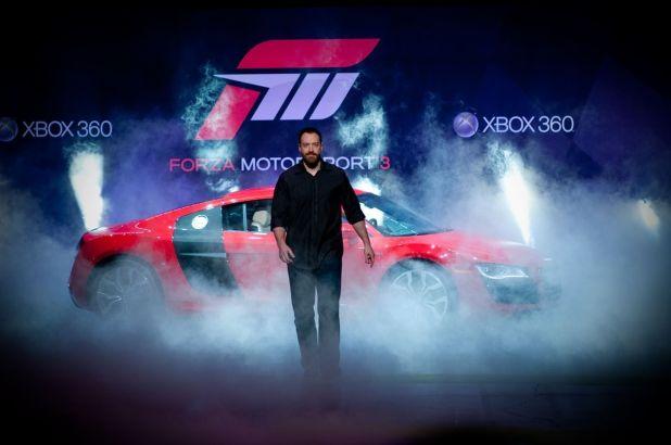 Ver a Greenwalt aparecer desde las tinieblas con un deportivo a sus espaldas ya es una estampa típica de cualquier feria E3.