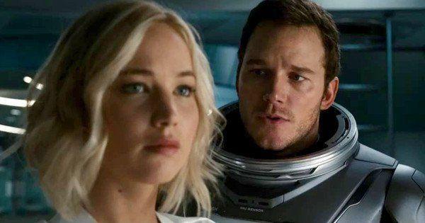 Jennifer Lawrence y Chris Pratt en Passengers