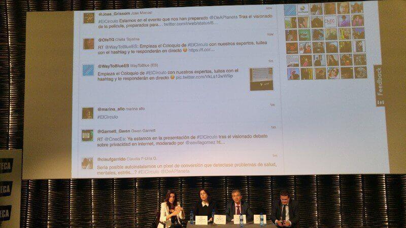 Evento 'El circulo' Ofelia Tejerina, Marta Peirano, Enrique Ávila y Román Ramírez