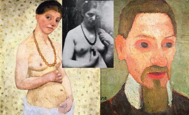 Paula Becker Autoretrato y retrato poeta Rainer Maria Rilke