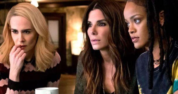 Sandra Bullock, Sarah Paulson y Rihanna en Ocean's 8