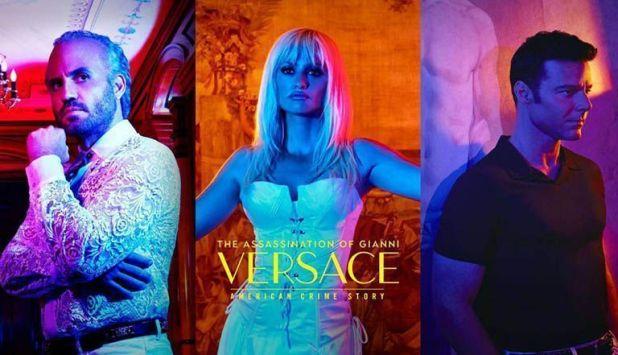 Édgar Ramírez, Penélope Cruz y Ricky Martin en ACS VERSACE