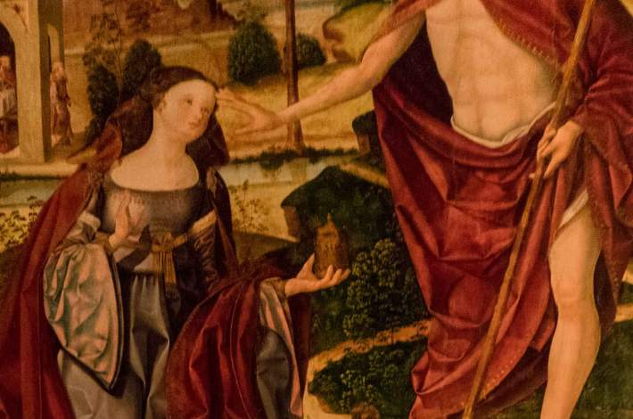 Chinchilla-Iglesia de Santa María del Salvador-Museo Parroquial-Noli me tangere, Maestro de Chinchilla-1
