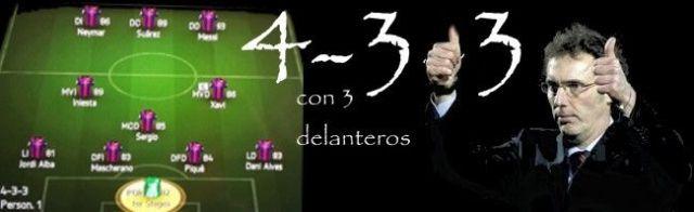 4-3-3 con 3 delanteros