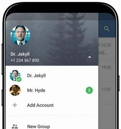 Multiples cuentas Telegram