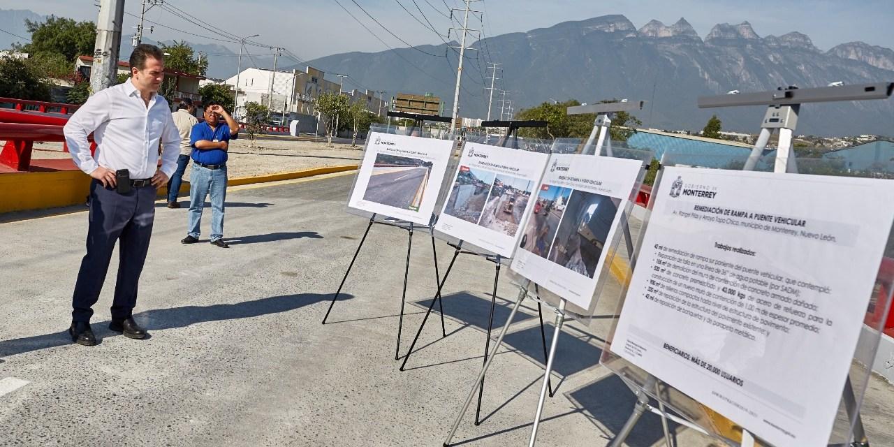 ALCALDE DE MONTERREY REINAGURA PUENTE EN LA AVENIDA RANGEL FRÍAS