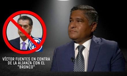 VÍCTOR FUENTES NO ACEPTA POSIBLE ALIANZA CON EL BRONCO