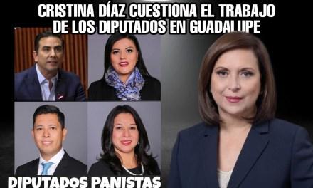 NO TEME CRISTINA Y LE CUESTIONA A DIPUTADOS QUE GANARON EN GUADALUPE SU TRABAJO<br>