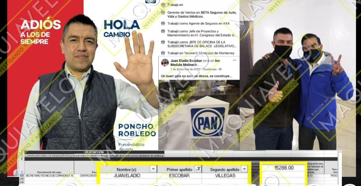 """ALFONSO ROBLEDO COLOCA EN SU PLANILLA DESDE """"AVIADORES"""" DEL CONGRESO COMO JUAN ELADIO ESCOBAR VILLEGAS HASTA REPRESENTANTES DE EMPRESAS QUE VENDEN GEL ANTIBACTERIAL A MUNICIPIO ¡PANISTA DE LINARES!"""