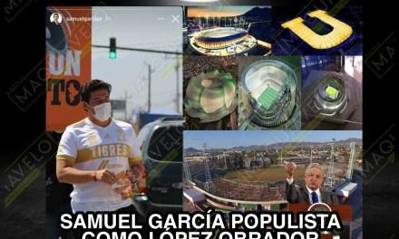 ¿Y LA POLÍTICA ES SERIA EN NUEVO LEÓN? PUES EL DE MC PROMUEVE ¡CONSTRUIR ESTADIO DE FÚTBOL! POPULISMO PURO Y SE QUEJAN DE GASTO DE AMLO EN BÉISBOL