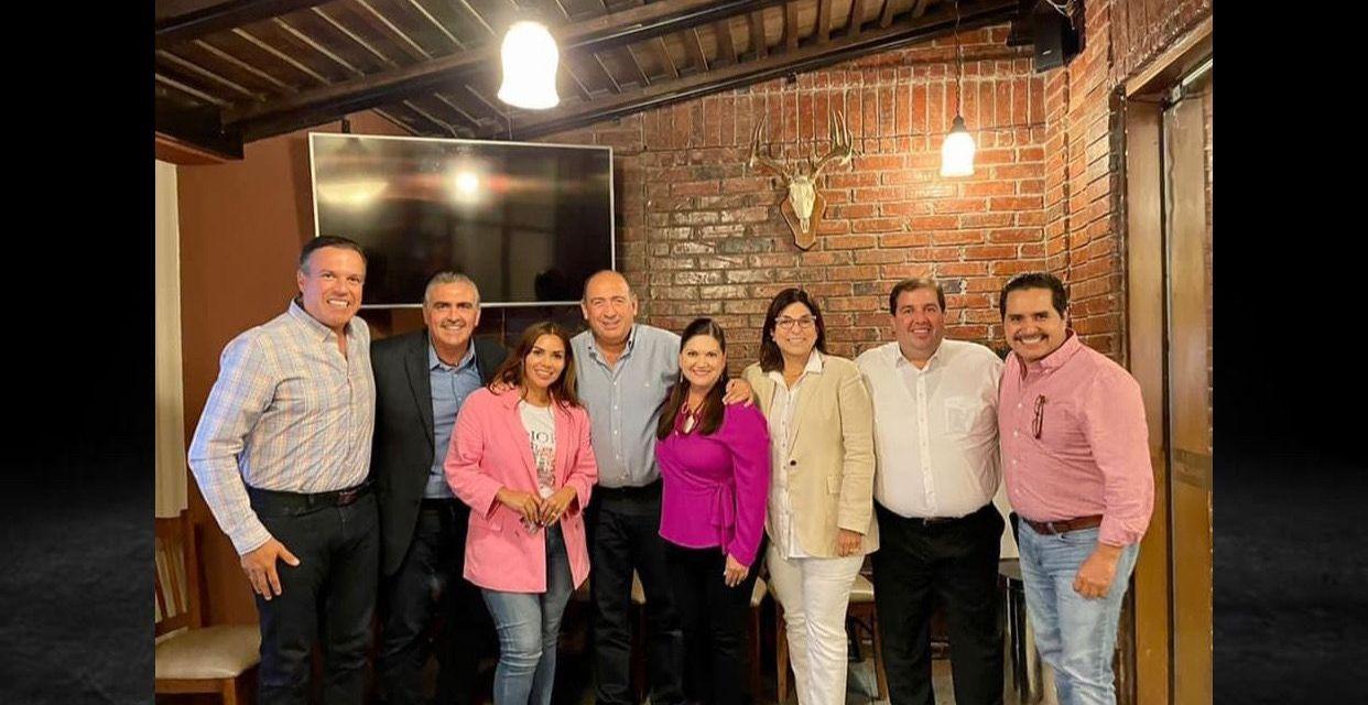DIPUTADOS FEDERALES DEL PRI EN NUEVO LEÓN PLANEANDO CON EL COORDINADOR NACIONAL Rubén Moreira Valdez <br>