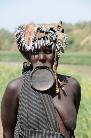 Surma woman, Ethiopia