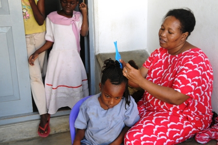 Hairdo time! The girls love it and they always look great in their different hairstyles