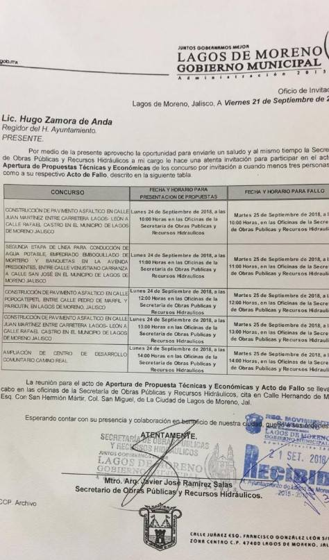 Nuevos contratos Sedatu Lagos