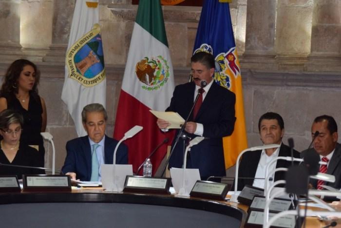 Juan Alberto Márquez de Anda en el tercer informe de Gobierno de Lagos de Moreno. Foto: Gobierno de Lagos de Moreno
