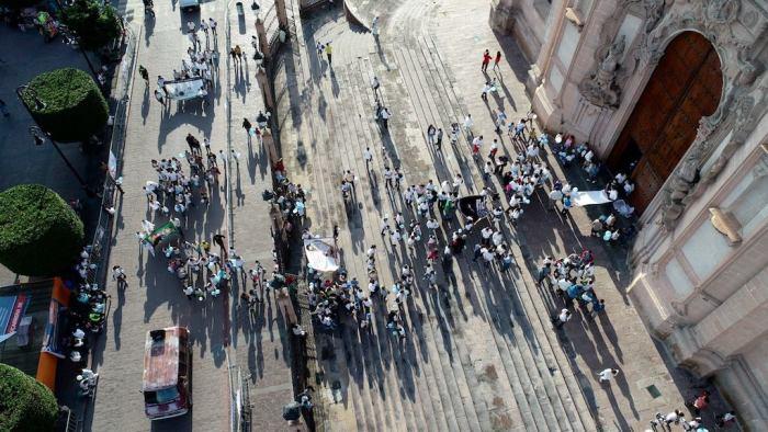 Marcha contra el aborto en Lagos de Moreno