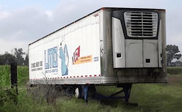Trailer con muertos rentado por el Gobierno de Jalisco, ubicado en Tlaquepaque