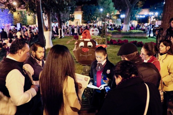 Concurso de esferas navideñas en el centro de Lagos de Moreno