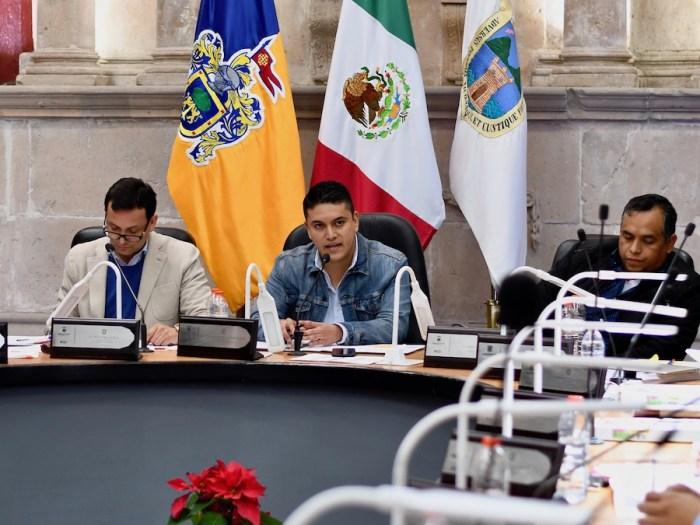 Tecutli Gómez en la aprobación del Presupuesto de Egresos 2019 del Gobierno de Lagos de Moreno. Foto: Sergio Hernández Márquez