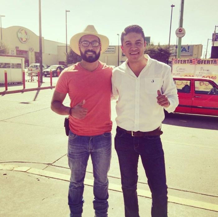 Heriberto Lara con Tecutli Gómez