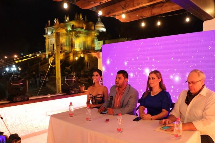 Sergio Buz en la rueda de prensa de la Señorita Turismo Lagos 2019