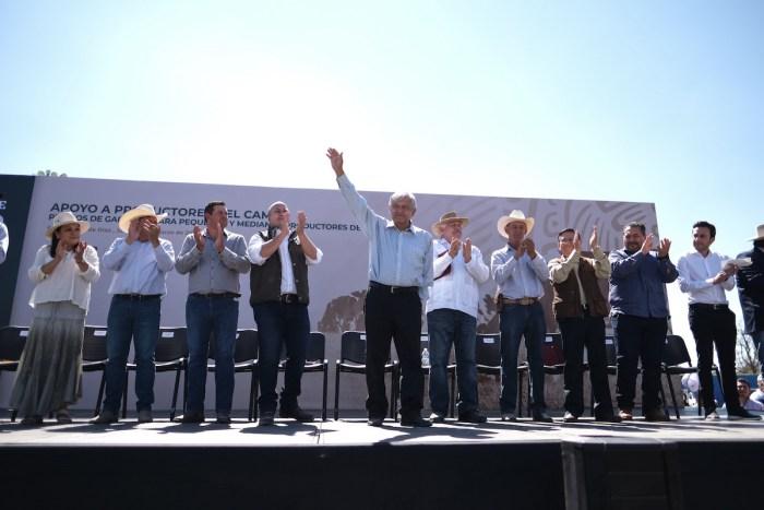 Mitin de Obrador y Enrique Alfaro en Encarnación de Díaz