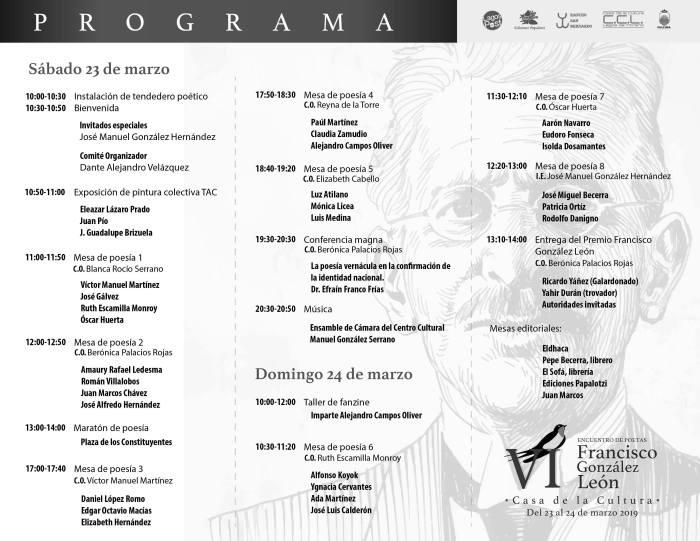 Encuentro de Poetas Francisco González León