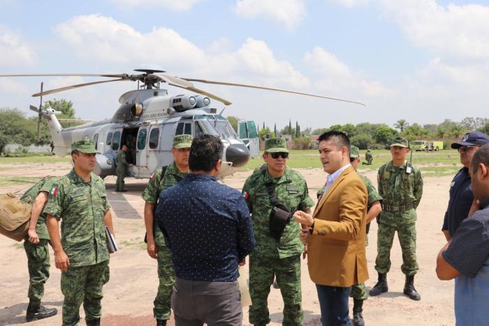 Tecutli Gómez se reunió con el General de División del Estado Mayor Presidencial David Córdova Campos