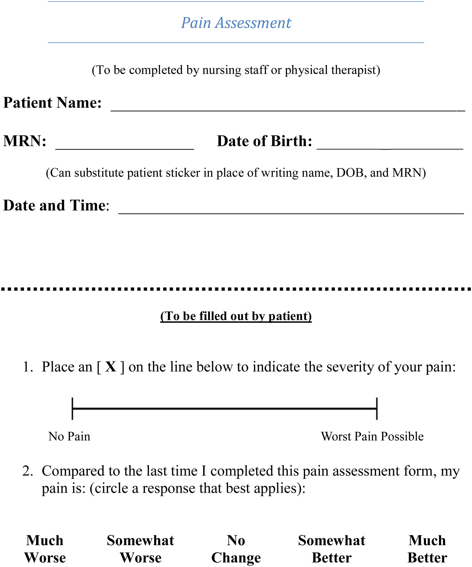 How Much Pain Is Significant Defining The Minimal