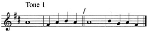 Psalm Tone 1
