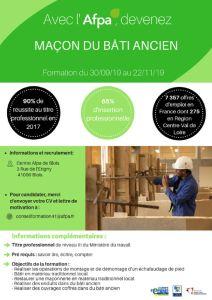 Formation Maçon Du Bâti Ancien à Blois Avec L Afpa Els41
