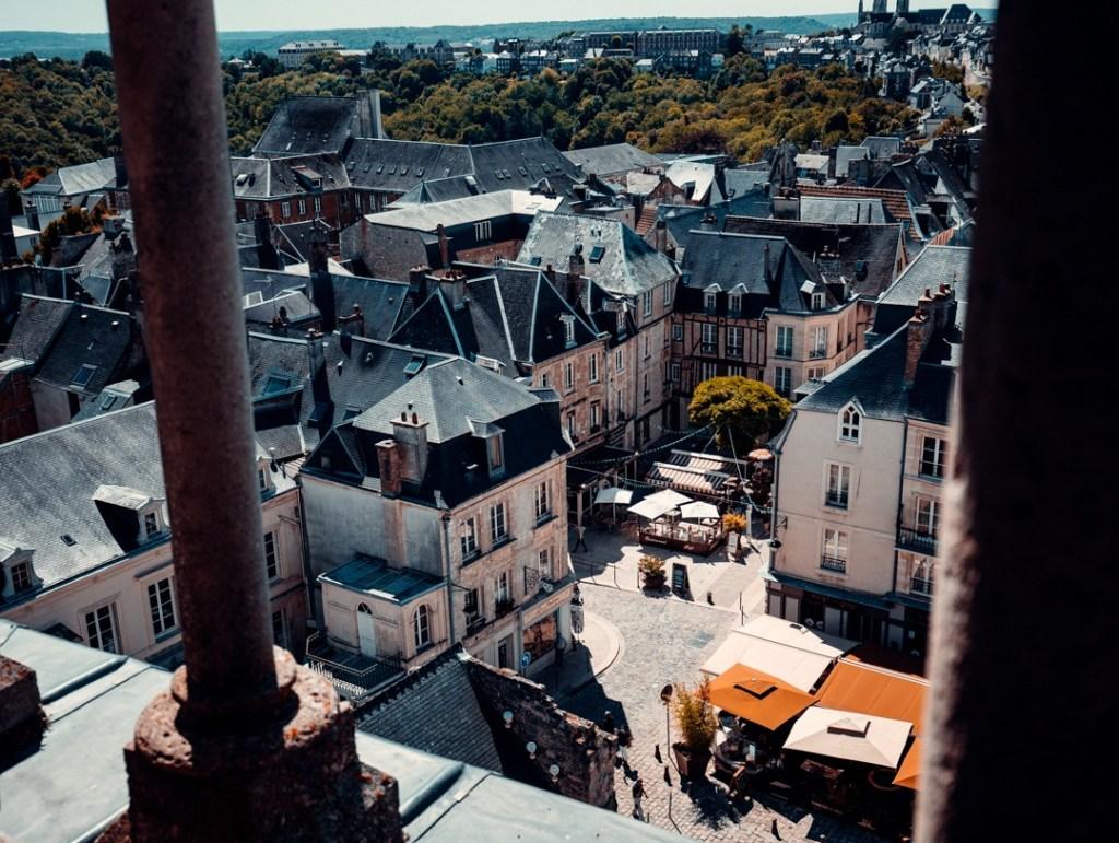 vue depuis le haut de la cathédrale de laon