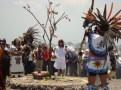 Ofrenda al sol. Ceremonia Solar en el Cerro de Tepetzinco. 16 de mayo de 2014.Fotografía: Leticia Rosas