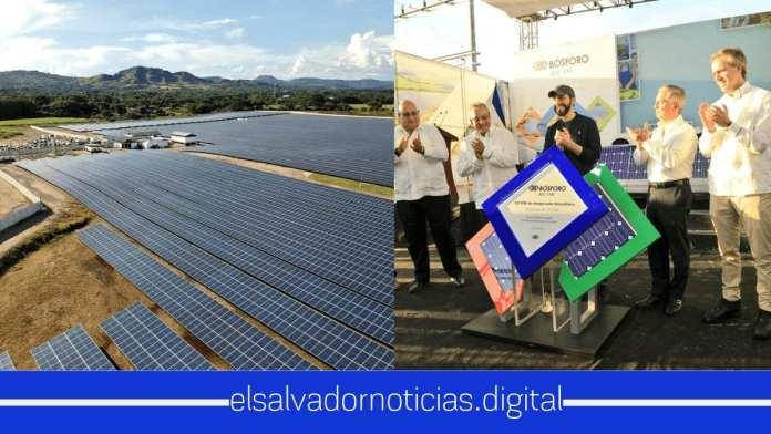 Nayib Bukele inaugura 100 MV de energía sostenible y renovable para El Salvador