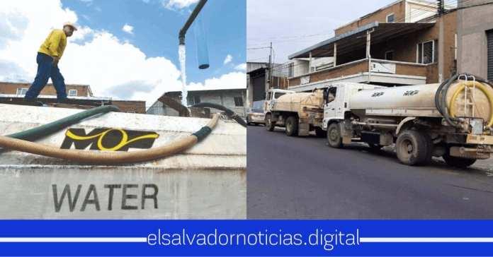 MOP despliega Pipas con Agua para abastecimiento de Salvadoreños