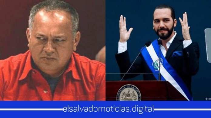 Nayib Bukele da otra bofeteda a régimen de Maduro, esta vez a Diosdado Cabello