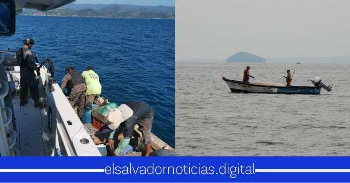 Fuerza Naval y PNC rescataron una embarcación pesquera que estaban en la deriva