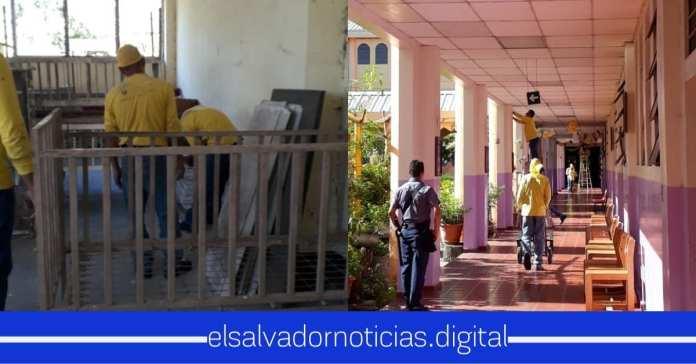 Privados de Libertad trabajan en restaurar El Hogar de niños San Vicente de Paul