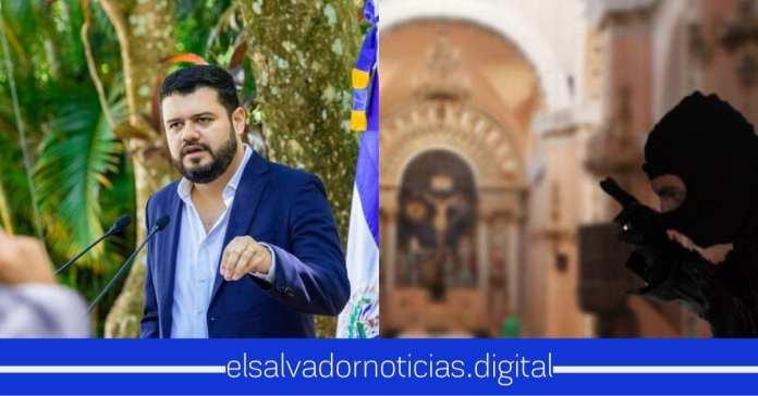 Rogelio Rivas activa patrullaje tras el intento de robo en Parroquia Señor de Ostúa, Metapán