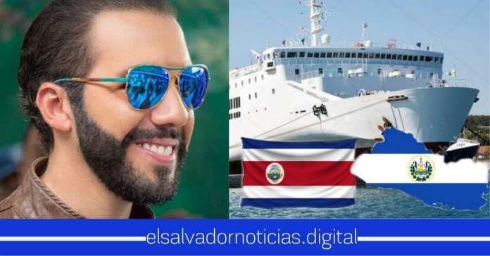 Gobierno del presidente Bukele inaugura oficialmente el mega ferry que conectará a El Salvador con Costa Rica
