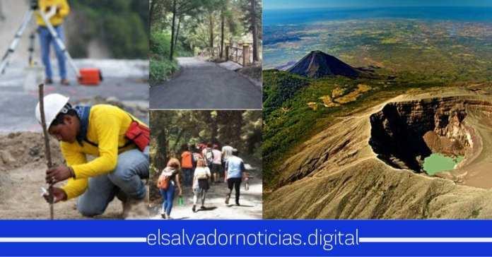Gobierno pavimenta cada vez más calles para fortalecer el turismo camino hacía Parque Nacional Los Volcanes en Santa Ana