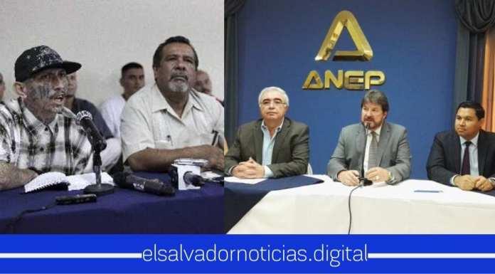 """La ANEP deja claro que están en total acuerdo que se apruebe el diálogo con las maras para """"beneficiar"""" a los salvadoreños"""