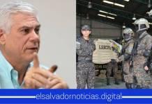 """Rodolfo Parker llama """"juguetes"""" a los equipos que necesitan la PNC y Fuerza Armada para la protección del pueblo salvadoreño"""