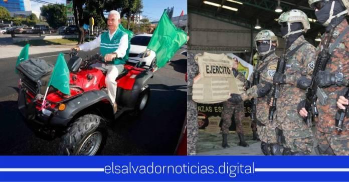 Rodolfo prefiere gastar dinero del pueblo en sus juguetes que en el equipo que necesitan miembros de seguridad para proteger los salvadoreños