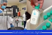 Estudiantes de la Universidad del Salvador inician la producción de alcohol gel para beneficiar a la población ante la emergencia por COVID-19