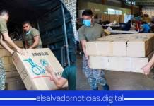 Fuerza Armada ayuda al Gobierno a la entrega de sillas de ruedas para el Hospital Saldaña