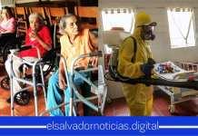 Hogar de ancianos San Vicente de Paul es sanitizado para la prevención de contagios del COVID-19