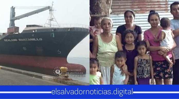 Barco llega al Salvador con contenedores de alimentos para abastecer a todos los salvadoreños